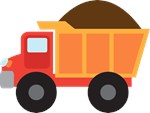 Dump Truck Construction Vehicle Kids Tees
