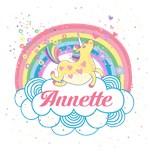 Unicorn and Rainbow Personalized Girls Gifts