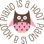 Piano Is A Hoot Music Tshirts