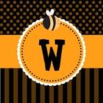Personalized Cute Honey Bee Monogram