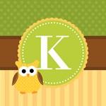 Cute Owl Personalized Monogram