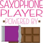 SAXOPHONE PLAYER powered by chocolate