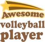 Awesome Volleyball Player T-shirts