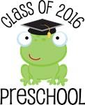 Class Of 2016 frog preschool tshirts