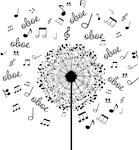Oboe Music Dandelion T-shirts
