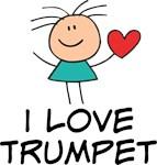 I Love Trumpet T Shirts