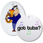 Tuba Christmas Ornaments
