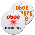 OBOE AND BASSOON Christmas Ornaments