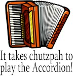 Funny Accordion Chutzpah Tees