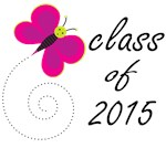 CLASS OF 2015 T SHIRTS with butterfly