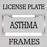 ASTHMA AWARENESS LICENSE FRAMES