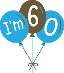 60th Birthday Balloon T-shirts and Gifts
