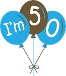 50th Birthday Balloon T-shirts and Gifts