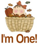 I'm One Autumn Baby First Birthday Tees