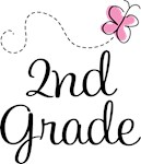 2nd Grade Butterfly T-shirts and Gifts