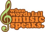 Music Speaks Musician Gifts and Tees