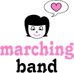 Love Heart Marching Band Tees