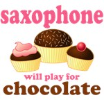 Saxophone Chocolate T-shirts