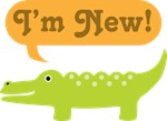Alligator I'm New Baby Arrival T-shirts