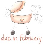 Pink Baby Buggy February Maternity