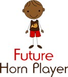 Cute Future Horn Player Kids Tees
