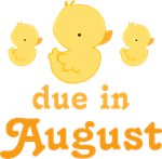 Due In August Baby Duck T-shirts