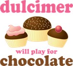 Dulcimer Chocolate Funny Music Tees