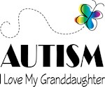Autism I Love My Granddaughter T-shirts