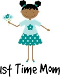 1st Time Mom Ethnic Lady T-shirt