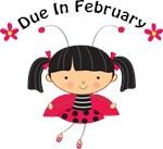 Cute February Maternity Ladybug Tees