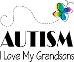 Autism I Love My Grandsons T-shirts