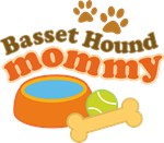 Basset Hound Mommy Pet Mom Gifts and T-shirts