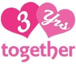 3rd Anniversary Hearts Gift T-shirts