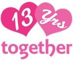 13th  Anniversary Hearts Gift T-shirts