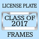 CLASS OF 2017 LICENSE PLATE FRAMES
