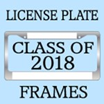 CLASS OF 2018 LICENSE PLATE FRAMES
