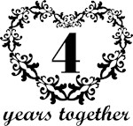 4th Anniversary Heart Gifts Together