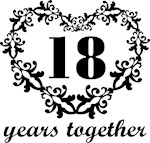 18th Anniversary Heart Gifts Together