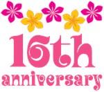 16th Anniversary Gift Hawaiian Themed