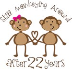 22nd Anniversary Funny Monkey Gifts