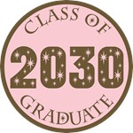 Pink Stars Class Of 2030 T-shirt Gifts