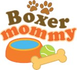 Boxer Mommy Pet Mom Gifts and T-shirts