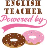 Funny English Teacher Donuts Quote T-shirts