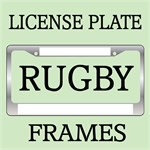 RUGBY LICENSE PLATE FRAMES