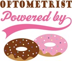 Optometrist Powered By Doughnuts Gift T-shirts