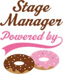 Stage Manager Powered By Doughnuts Gift T-shirts