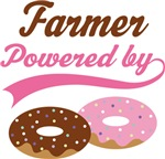 Farmer Powered By Doughnuts Gift T-shirts