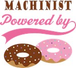 Machinist Powered By Doughnuts Gift T-shirts