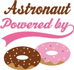 Astronaut Powered By Doughnuts Gift T-shirts