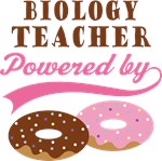 Biology Teacher Powered By Doughnuts Gift T-shirts